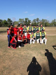 Udayana Cricket Team Celebrating The Games